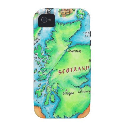 Map of Scotland Case-Mate iPhone 4 Cover