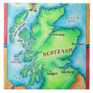 Map of Scotland Ceramic Tile