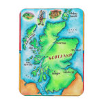 Map of Scotland Flexible Magnets