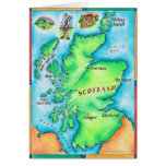 Map of Scotland Greeting Card