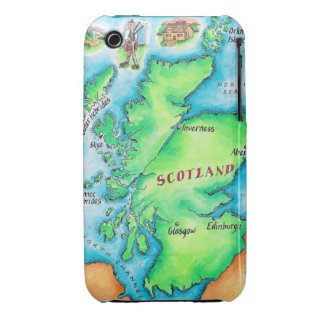 Map of Scotland iPhone 3 Cover