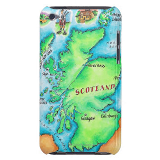 Map of Scotland iPod Touch Case-Mate Case