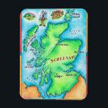 "Map of Scotland Magnet<br><div class=""desc"">Map of Scotland | Jennifer Thermes | AssetID: wov027</div>"