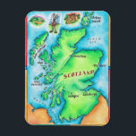 "Map of Scotland Magnet<br><div class=""desc"">Map of Scotland 