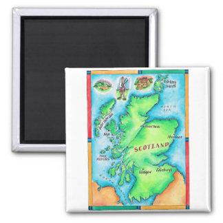 Map of Scotland Refrigerator Magnet