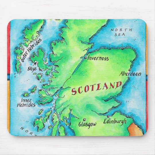Map of Scotland Mouse Pad