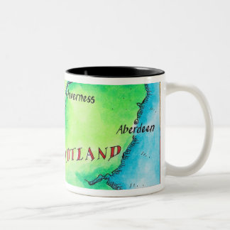 Map of Scotland Two-Tone Coffee Mug