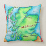 Map of Scotland Pillows