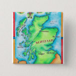 Map of Scotland Pinback Button