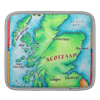 Map of Scotland Sleeve For iPads