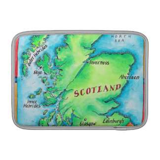 Map of Scotland Sleeves For MacBook Air