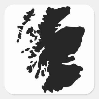 Map of Scotland Square Sticker