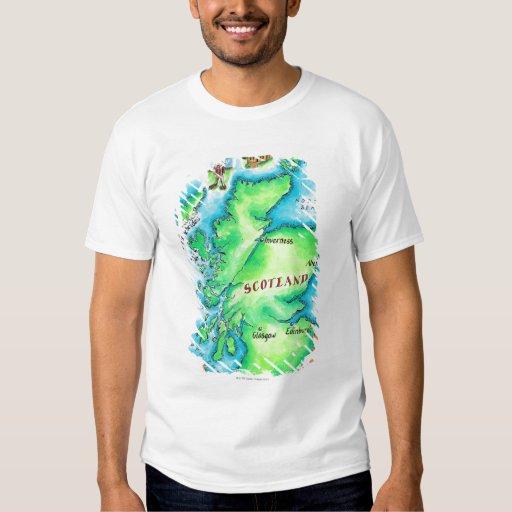 Map of Scotland T Shirt