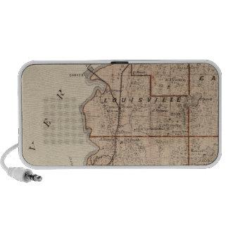 Map of Scott County, Minnesota Laptop Speakers
