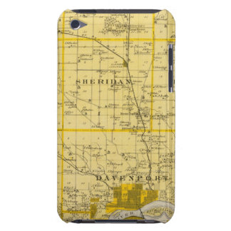 Map of Scott County, State of Iowa iPod Case-Mate Cases