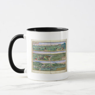 Map of Seville, Cadiz, and Malaga, from 'Civitates Mug