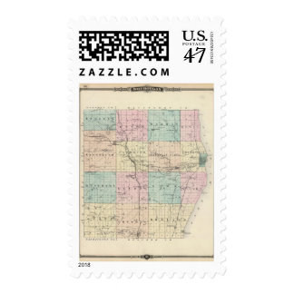 Map of Sheboygan County, State of Wisconsin Postage