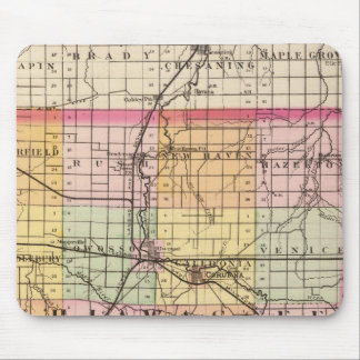 Map of Shiawassee County, Michigan Mouse Pad