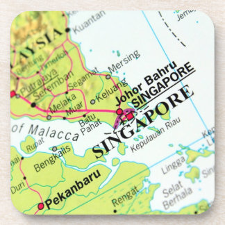 Map of Singapore Drink Coaster