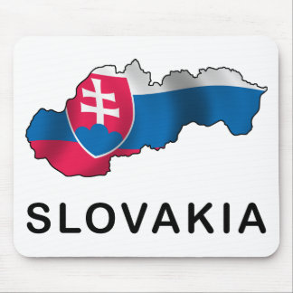 Map Of Slovakia Mouse Pad