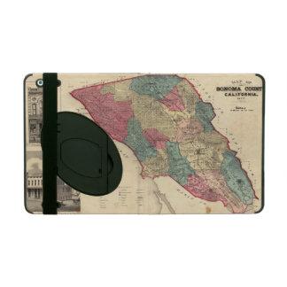 Map of Sonoma County California iPad Case