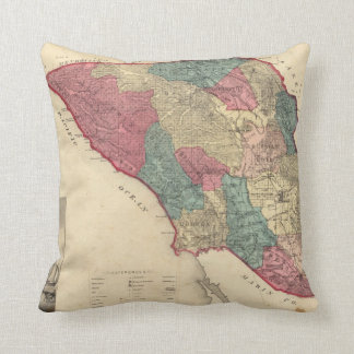 Map of Sonoma County California Pillow