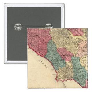 Map of Sonoma County California Pinback Button