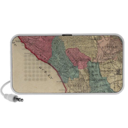 Map of Sonoma County California Portable Speaker