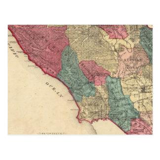 Map of Sonoma County California Postcard