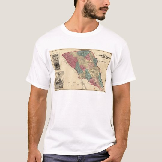 Map of Sonoma County California T-Shirt