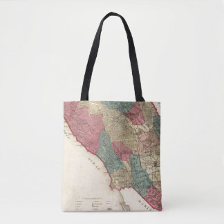 Map of Sonoma County California Tote Bag