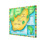 Map of South Africa 2 Canvas Print