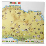 Map of South Africa 2 Ceramic Tile