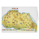 Map of South Africa 2 Greeting Card