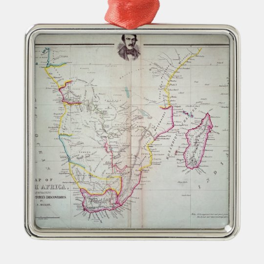 Map of South Africa illustrating Metal Ornament