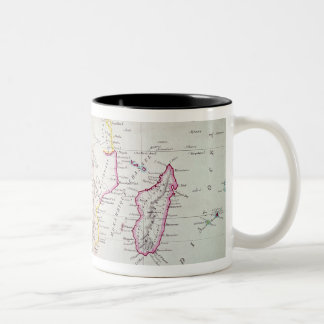 Map of South Africa illustrating Two-Tone Coffee Mug
