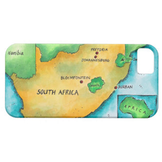 Map of South Africa iPhone SE/5/5s Case