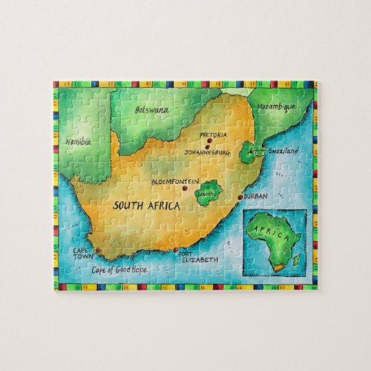Map of South Africa Jigsaw Puzzle