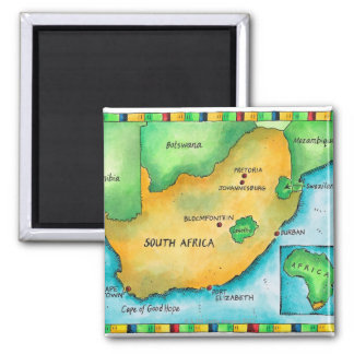 Map of South Africa Magnet