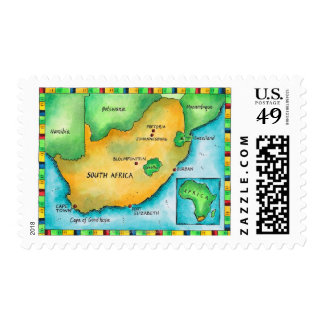 Map of South Africa Postage