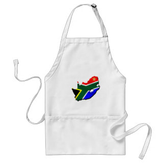 Map of South Africa SOuth African flag Aprons