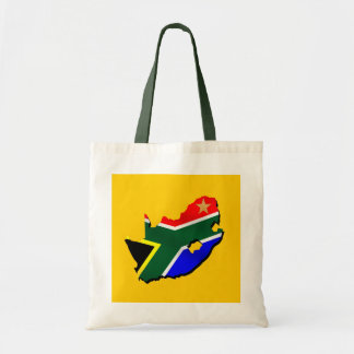 Map of South Africa SOuth African flag Canvas Bags