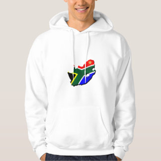 Map of South Africa SOuth African flag Hoodie