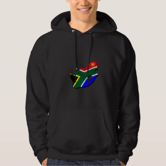 Map of South Africa SOuth African flag Hoodies
