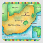 Map of South Africa Square Sticker