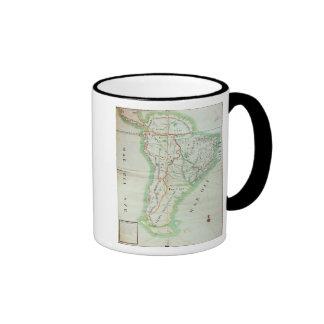 Map of South America, 1777 Ringer Coffee Mug