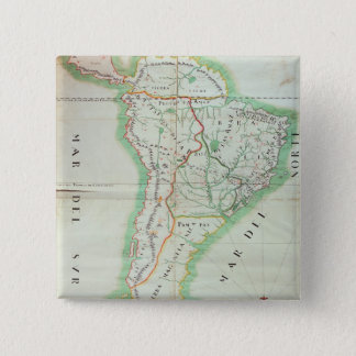 Map of South America, 1777 Pinback Button