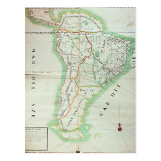 Map of South America, 1777 Postcard