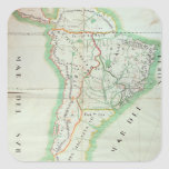 Map of South America, 1777 Square Sticker