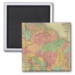 Map of South America 2 2 Inch Square Magnet